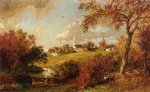 back of the village hastings by jasper francis cropsey painting
