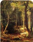 jasper francis cropsey pool in the woods painting