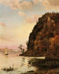 sad acrylic paintings - under the palisades in october by jasper francis cropsey