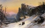 jasper francis cropsey winter in switzerland ii painting