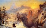 winter original paintings - winter in switzerland by jasper francis cropsey