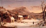 winter original paintings - winter in the rockies by jasper francis cropsey