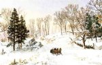 winter original paintings - winter on rivensdale road hastings by jasper francis cropsey