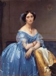 jean auguste dominique ingres acrylic paintings - princesse albert de broglie n茅e jos茅phine by jean auguste dominique ingres
