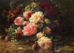 floral original paintings - floral still life by jean baptiste robie