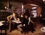 jean beraud acrylic paintings - at the bistro by jean beraud