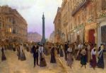 jean beraud original paintings - la rue de la paix 1907 by jean beraud