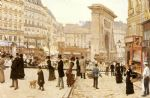jean beraud acrylic paintings - le boulevard st. denis paris by jean beraud