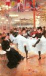 jean beraud acrylic paintings - le cafe de paris by jean beraud