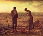 jean francois millet watercolor paintings - angelus by jean francois millet