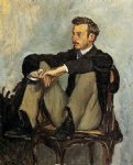 portrait of renoir by jean frederic bazille painting