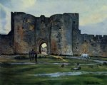 jean frederic bazille original paintings - queens gate at aigues by jean frederic bazille