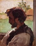 jean frederic bazille self portrait at saint painting