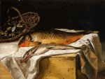 still life with fish by jean frederic bazille painting