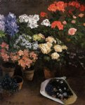 study of flowers by jean frederic bazille painting