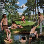 jean frederic bazille acrylic paintings - summer scene by jean frederic bazille