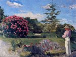 jean frederic bazille original paintings - the little gardener by jean frederic bazille