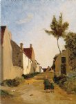 jean frederic bazille original paintings - village street by jean frederic bazille