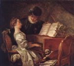 jean honore fragonard music lesson painting