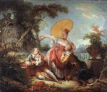 jean honore fragonard the musical contest painting