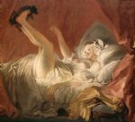 jean honore fragonard young woman playing with a dog painting