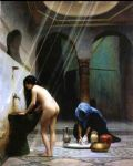 jean-leon gerome art - jean leon gerome a moorish bath turkish woman bathing no 2 by jean-leon gerome