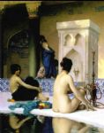 jean leon gerome bathing scene by jean-leon gerome painting