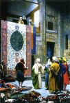 jean-leon gerome art - jean leon gerome carpet merchant in cairo by jean-leon gerome