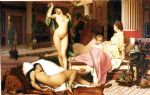 greek famous paintings - jean leon gerome greek interior by jean-leon gerome