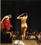 selling acrylic paintings - jean leon gerome selling slaves in rome by jean-leon gerome