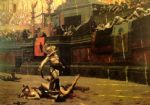 framed acrylic paintings - jean leon gerome thumbs down by jean-leon gerome