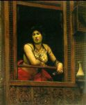jean leon gerome woman at her window by jean-leon gerome painting