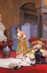 jehan georges vibert watercolor paintings - autumn flowers by jehan georges vibert