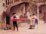 jehan georges vibert watercolor paintings - the final touch by jehan georges vibert