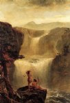 jerome thompson famous paintings - hiawatha and minnehaha on their honeymoon by jerome thompson