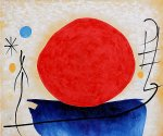 the red sun by joan miro oil paintings