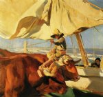 joaquin sorolla y bastida afternoon sun playa de valencia paintings
