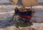 joaquin sorolla y bastida beaching the boat study art