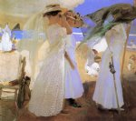 sorolla art - beneath the canopy by joaquin sorolla y bastida