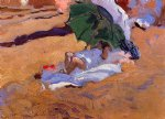 childs siesta by joaquin sorolla y bastida painting
