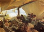 boat acrylic paintings - meal on the boat by joaquin sorolla y bastida