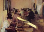 joaquin sorolla y bastida packing raisins painting