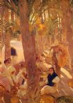 palm grove by joaquin sorolla y bastida painting