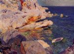 joaquin sorolla y bastida rocks at javea painting