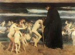 sad acrylic paintings - sad inheritance by joaquin sorolla y bastida