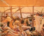joaquin sorolla y bastida acrylic paintings - the tuna catch ayamonte by joaquin sorolla y bastida