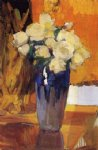 white roses from the house garden by joaquin sorolla y bastida painting