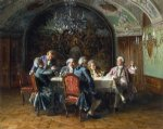 a good dinner by johann hamza watercolor paintings