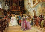 the wedding by johann hamza watercolor paintings