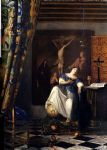 johannes vermeer art - allegory of the faith by johannes vermeer